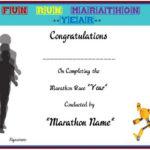 Fun Run Certificate Template : 14+ Editable Free Word In Unique Marathon Certificate Template 7 Fun Run Designs