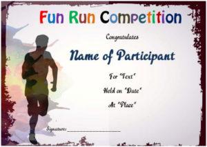 Fun Run Certificate Template : 14+ Editable Free Word intended for Unique Marathon Certificate Template 7 Fun Run Designs