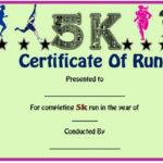 Fun Run Certificate Template : 14+ Editable Free Word Throughout Fresh 5K Race Certificate Template
