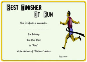 Fun Run Certificate Template : 14+ Editable Free Word throughout Marathon Certificate Template 7 Fun Run Designs
