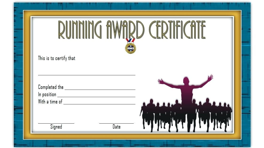 Fun Run Certificate Template Running Certificates Templates inside Running Certificate Templates