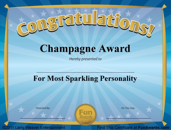 Funny Award Certificates - 101 Funny Certificates To Give within Funny Certificates For Employees Templates