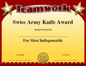Funny Employee Awards – 101 Funny Awards For Employees, Work within Best Funny Certificates For Employees Templates