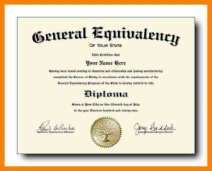Ged Certificate Template (6) | Professional Templates inside Ged Certificate Template