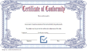 General Certificate Of Conformity Template Free | Two pertaining to New Certificate Of Conformity Template Ideas
