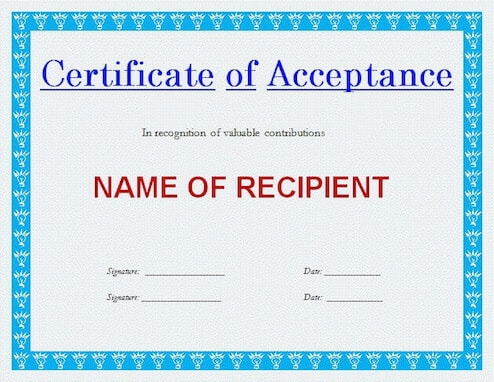Generic Certificate Template (5) - Templates Example throughout Qualification Certificate Template