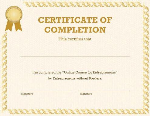 Generic Certificate Template   Free Certificate Templates with Best Generic Certificate Template