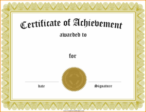 Generic Certificate Template Plasticmouldings With Regard To pertaining to Best Generic Certificate Template