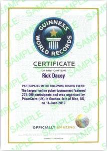 Get Your Own Guinness World Record Certificate – Pokerstars Blog Regarding Fresh Guinness World Record Certificate Template