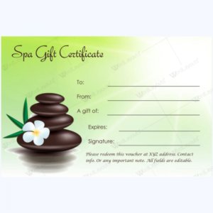 Gift Certificate 27 – Word Layouts   Massage Gift intended for New Free Spa Gift Certificate Templates For Word