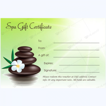 Gift Certificate 27 - Word Layouts   Massage Gift intended for New Free Spa Gift Certificate Templates For Word