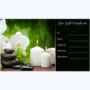 Gift Certificate 27 – Word Layouts   Massage Gift throughout Free Spa Gift Certificate Templates For Word