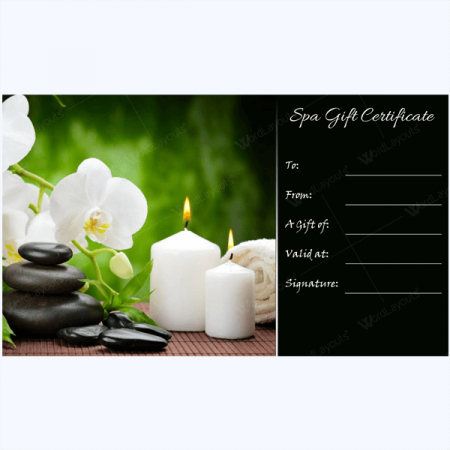 Gift Certificate 27 - Word Layouts   Massage Gift with regard to Spa Gift Certificate