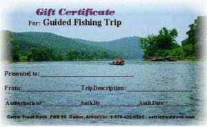 Gift Certificate For Our Guided Fishing Trips At Cotter for Quality Fishing Gift Certificate Template