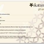 Gift Certificate – Ikatan Balinese Day Spa – Noosa, Sunshine Throughout Spa Gift Certificate