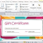 Gift Certificate Maker Template For Word 2013 For Word 2013 Inside Word 2013 Certificate Template