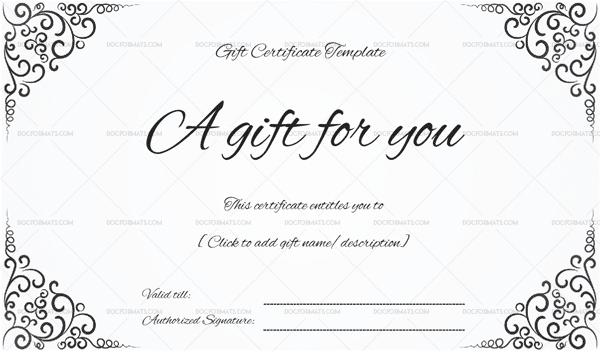 Gift Certificate Template - 19+ Choose & Customize For Any with regard to Tattoo Gift Certificate Template