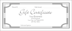 Gift Certificate Template 7 throughout Indesign Gift Certificate Template