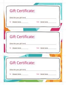 Gift Certificate Template: Free Download, Create, Fill within Fillable Gift Certificate Template Free
