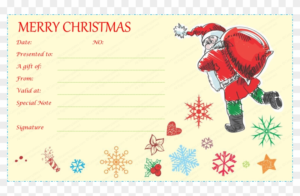 Gift Certificate Template – Free Santa Gift Voucher Template Inside Best Christmas Gift Certificate Template Free