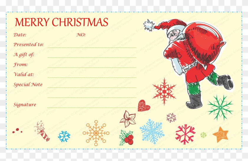 Gift Certificate Template - Free Santa Gift Voucher Template inside Christmas Gift Certificate Template Free Download