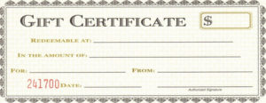 Gift Certificate Template Pages ~ Addictionary for Certificate Template For Pages
