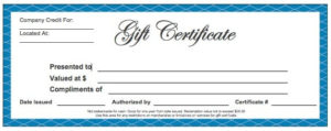 Gift Certificate Templates – Word Excel Fomats for Company Gift Certificate Template