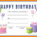 Gift Certificates Templates Free Printable Birthday Gift Within Unique Birthday Gift Certificate Template Free 7 Ideas