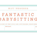 Gift Giving Made Easy | Coupon Template, Babysitting Coupon With Quality Free Printable Babysitting Gift Certificate