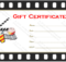 Go To Movie Gift Certificate Template | Gift Certificate intended for Movie Gift Certificate Template