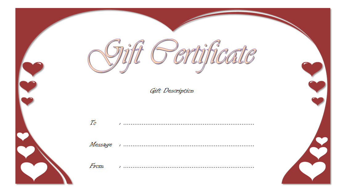 Golden Wedding Anniversary Gift Certificate Template Free pertaining to Quality Anniversary Gift Certificate