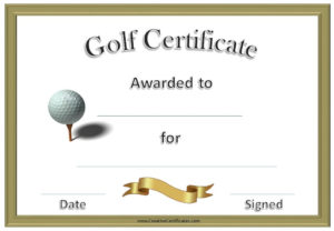 Golf Awards | Funny Certificates, Gift Certificate Template inside New Golf Certificate Templates For Word