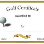 Golf Awards | Funny Certificates, Gift Certificate Template With Golf Certificate Template Free