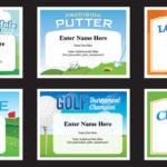Golf Certificates | Golfing Award Templates Golf Team Tournament Inside Golf Certificate Template Free