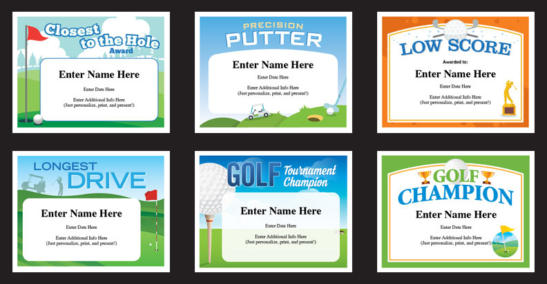 Golf Certificates | Golfing Award Templates Golf Team Tournament throughout New Golf Certificate Templates For Word