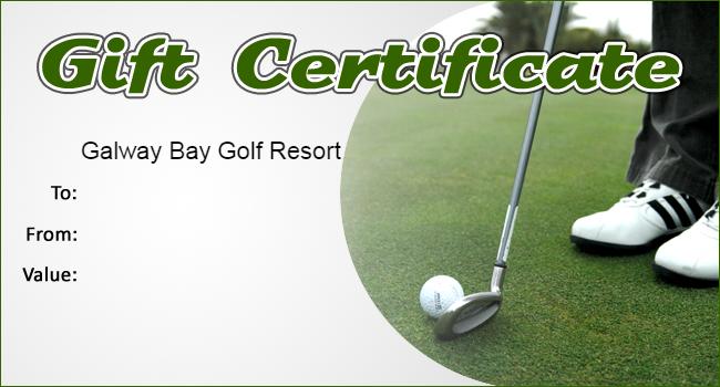 Golf Gift Certificate Template (3) - Templates Example throughout Golf Gift Certificate Template