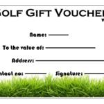 Golf Gift Certificate Template (4) – Templates Example Within Golf Certificate Template Free