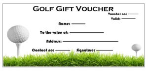 Golf Gift Certificate Template (4) – Templates Example within Golf Certificate Template Free