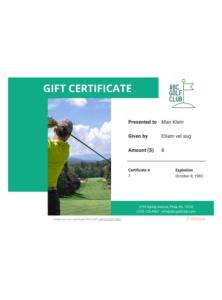 Golf Gift Certificate Template – Pdf Templates | Jotform with regard to Best Golf Gift Certificate Template