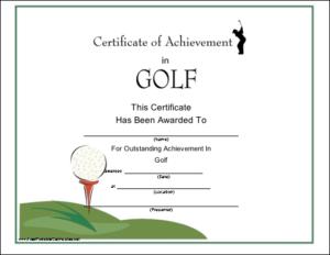 Golf Printable Certificate | Certificate Templates, Gift with Quality Golf Certificate Template Free