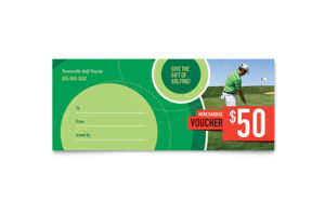 Golf Tournament Gift Certificate Template Design intended for Golf Gift Certificate Template