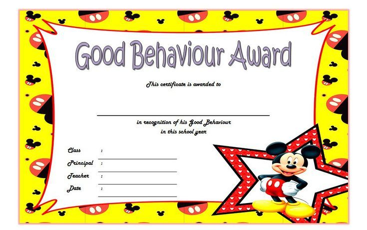 Good Behavior Certificate Free Printable 10   Certificate throughout Good Behaviour Certificate Template 10 Kids Awards