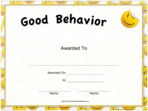 Good Behavior Certificate Template Download Printable Pdf within Good Behaviour Certificate Templates