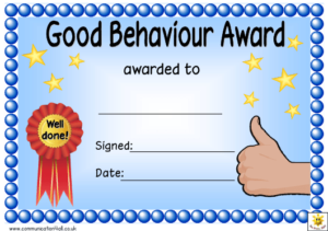 Good Behaviour Award Certificate Template Download Printable intended for Quality Good Behaviour Certificate Editable Templates