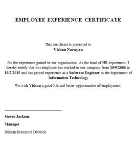 Good Conduct Certificate Template (2) – Templates Example within Fresh Good Conduct Certificate Template