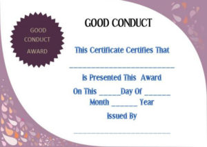 Good Conduct Certificate Template – 22+ Word Templates For intended for Fresh Good Conduct Certificate Template