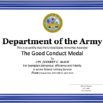 Good Conduct Certificate Template – Word Templates Pertaining To Good Conduct Certificate Template