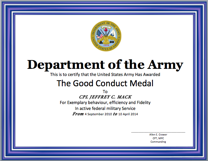 Good Conduct Certificate Template - Word Templates pertaining to Good Conduct Certificate Template