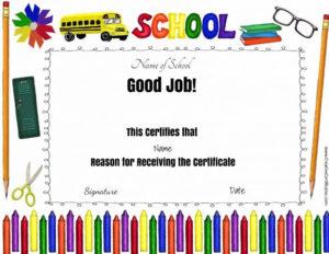 Good Job Award   Teacher Awards, Free Printable Certificate regarding Good Job Certificate Template Free