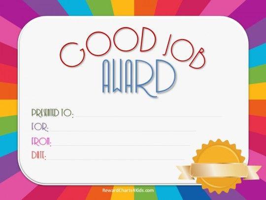 Good Job Certificate   Certificate Templates, Good Job in Good Job Certificate Template Free